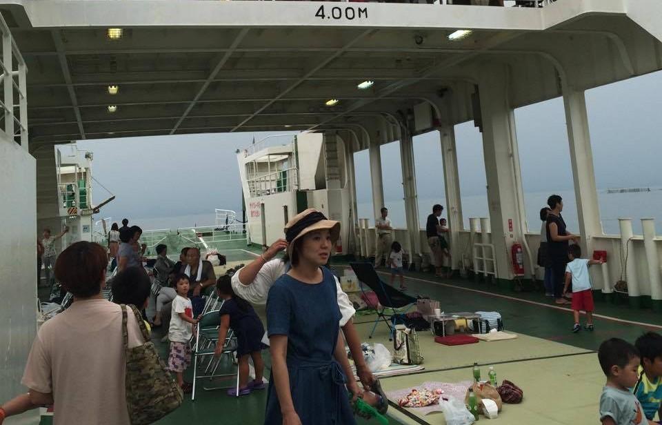 緑の公社さんが特別に瀬戸内海夕焼けクルージングをしてくださいました