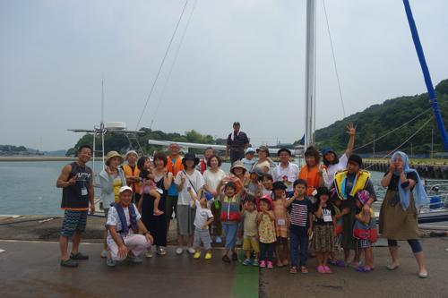 毎年ヨットにのせてくださる、鶴海さんありがと〜