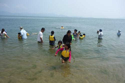 最後の海水浴