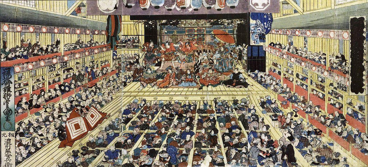 ⑥歌舞伎の劇場内
