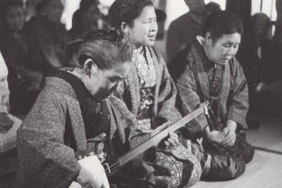 最後の高田瞽女の三人による語り物.1973