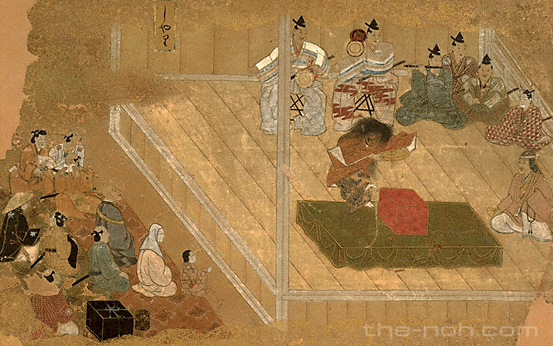 「江戸初期古能狂言之図」国立能楽堂提供