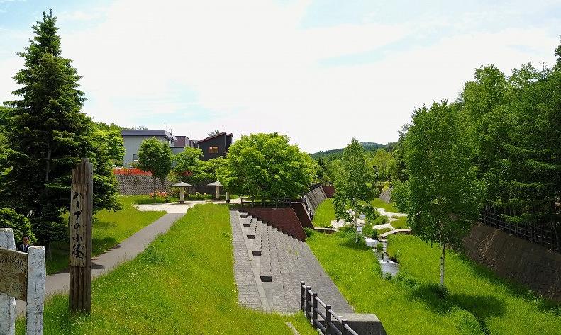 河川敷に整備された緑地公園。将来的に、このような公園に汚染土が使われる可能性がある