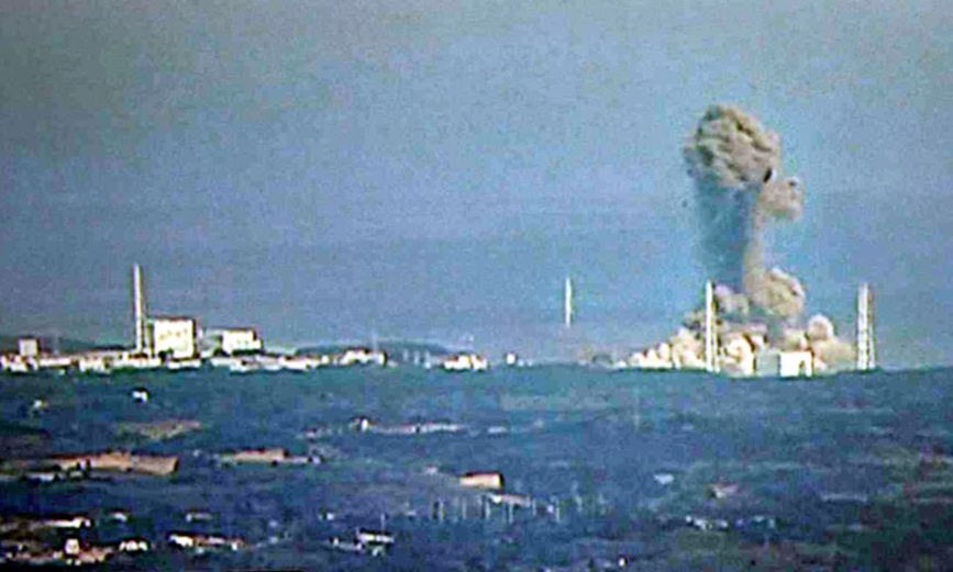 3月14日11時1分に3号機が爆発