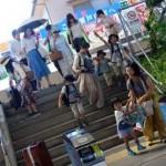 皆さん暑い暑い岡山へ到着