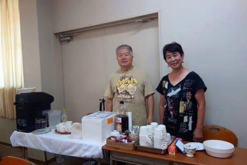 あじさいの会の力武夫婦が、カフェを開いてくれました。