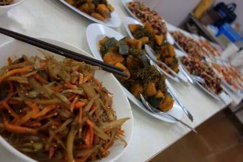 美味しー野菜料理の数々。