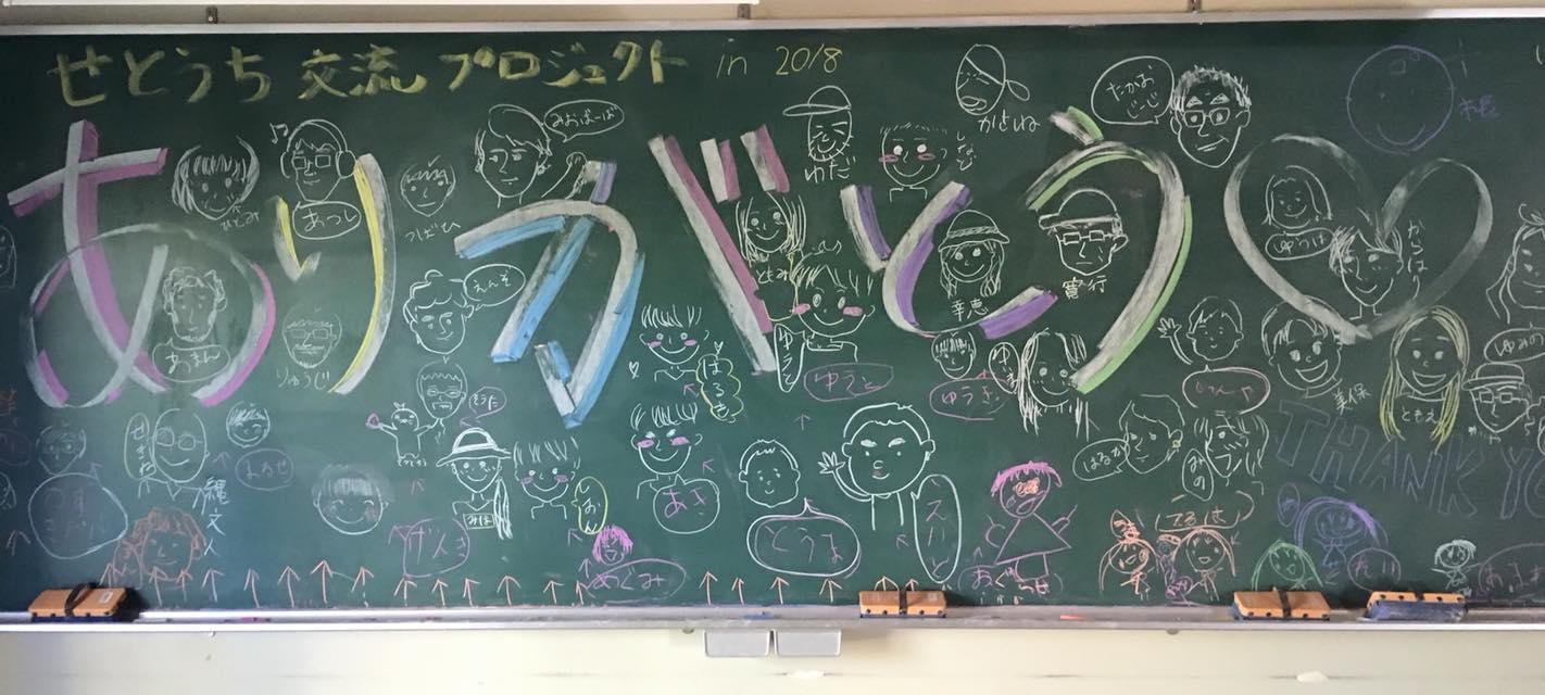 スタッフの子どもたちと学生ボラのみんなで描いた力作!