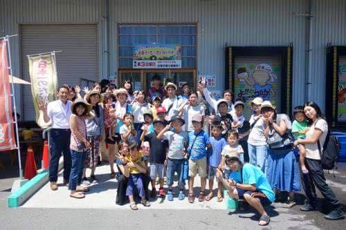 お菓子の大町で200円分の券を頂きみんなでお買い物。
