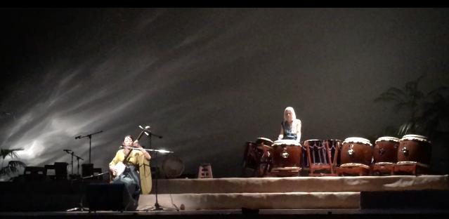 和太鼓の乙倉さんと、じょんがら曲弾きのコラボ